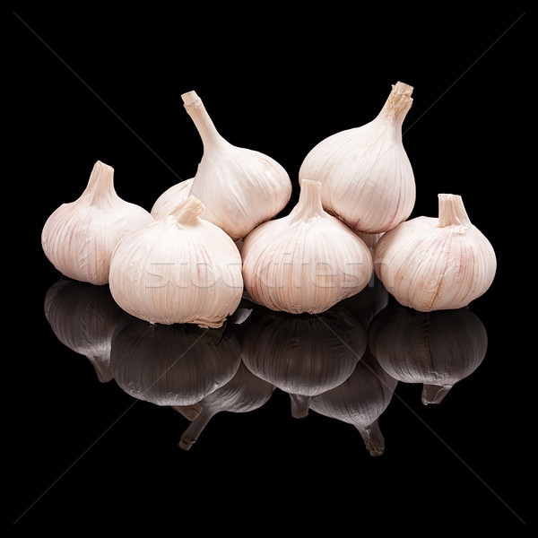 Pile of unpeeled garlic bulbs Stock photo © Coffeechocolates