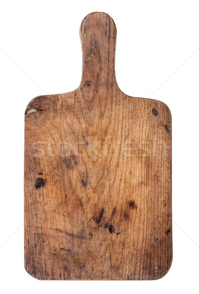 Old wooden kitchen board Stock photo © Coffeechocolates