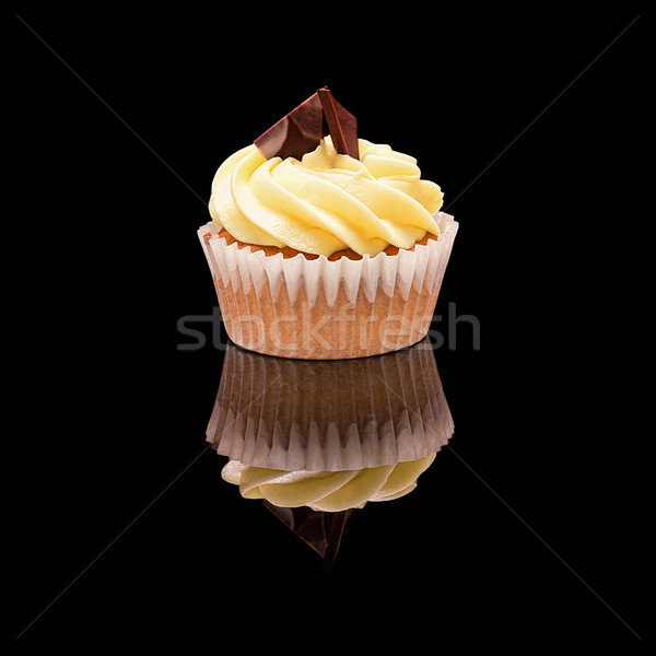 Um bolinho amarelo creme peças Foto stock © Coffeechocolates