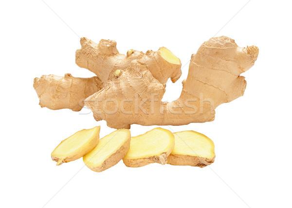 Köteg friss nem hámozott gyömbér gyökerek Stock fotó © Coffeechocolates