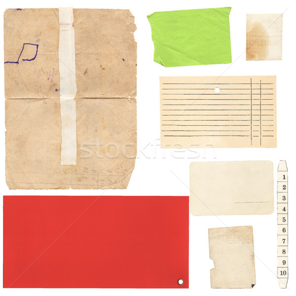 Set of old paper sheets and card Stock photo © Coffeechocolates