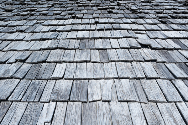 Wooden shingles background Stock photo © Coffeechocolates