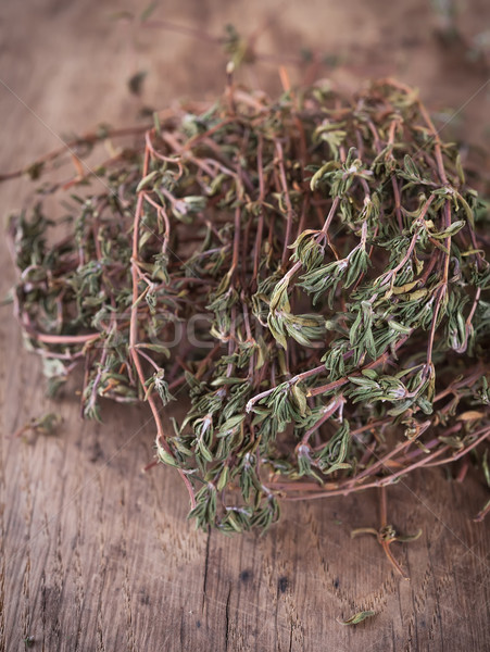 Dried thyme leaves and stems Stock photo © Coffeechocolates