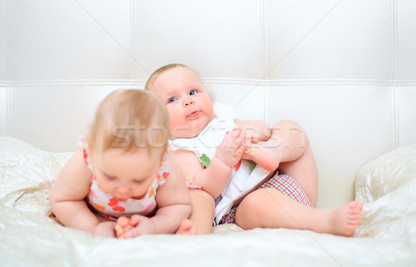 one years old baby girls Stock photo © cookelma