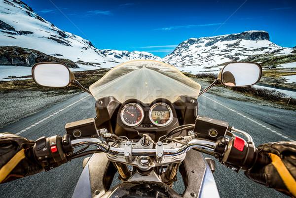 View montagna Norvegia moto Foto d'archivio © cookelma