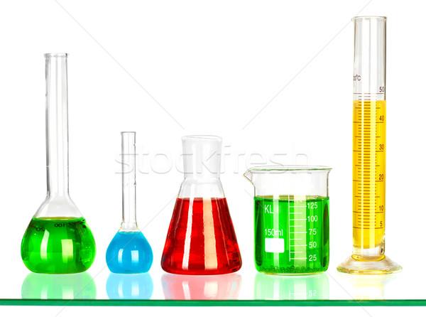 Teszt csövek fehér orvosi laboratórium kémia Stock fotó © cookelma