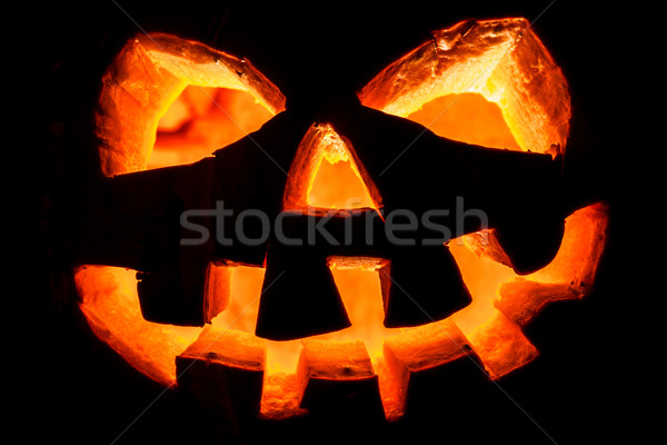 Halloween - old jack-o-lantern Stock photo © cookelma