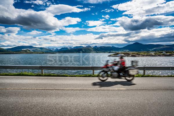 Motoros út óceán Norvégia cím norvég Stock fotó © cookelma