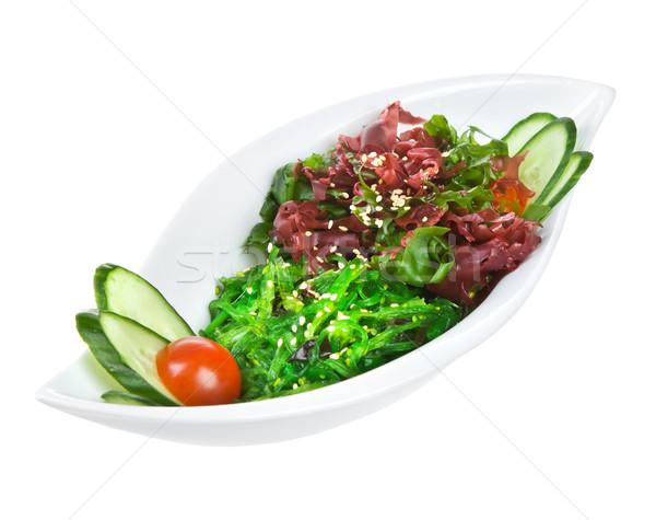 Foto stock: Salada · mar · alga · isolado · branco · folha