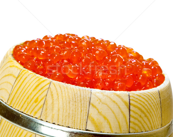 Keg of red caviar on the white Stock photo © cookelma