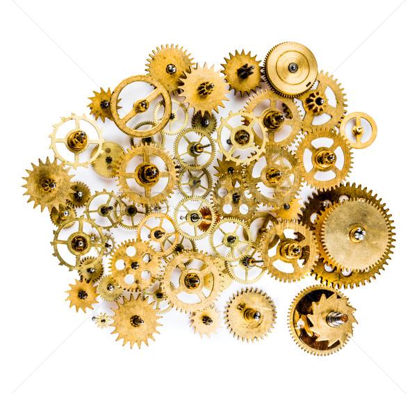 Stock fotó: öreg · mechanizmus · közelkép · fehér · technológia · háttér