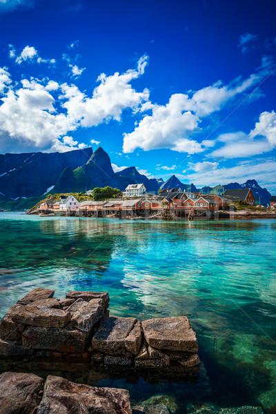 Сток-фото: архипелаг · Норвегия · декораций · драматический · гор