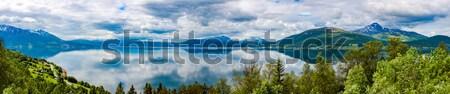 美しい 自然 ノルウェー 自然 風景 パノラマ ストックフォト © cookelma