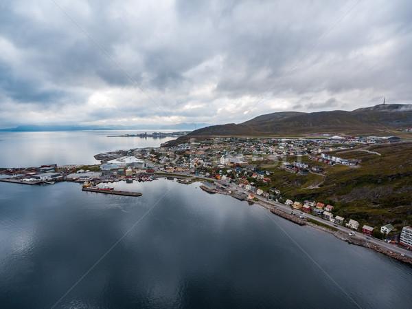 Città Norvegia natura panorama estate viaggio Foto d'archivio © cookelma
