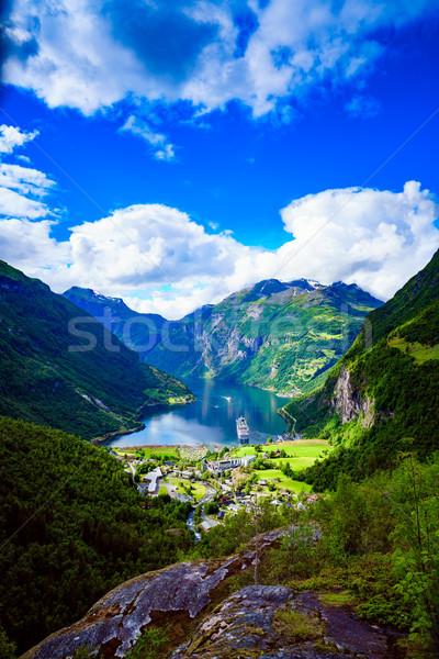 ノルウェー 写真 美しい 自然 長い ストックフォト © cookelma