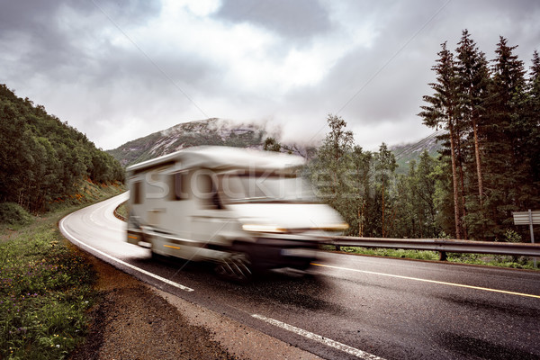 VR Caravan car travels on the highway. Stock photo © cookelma