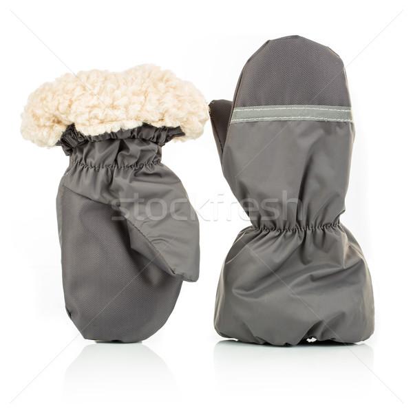 Muffole bianco moda bambino salute inverno Foto d'archivio © cookelma