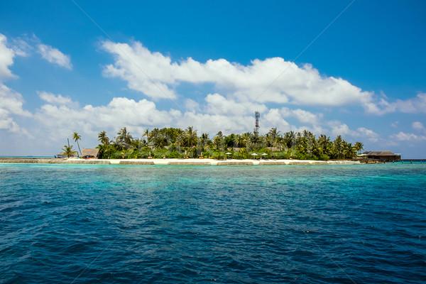 モルディブ インド 海 ホテル 島 ビーチ ストックフォト © cookelma