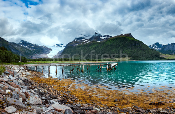ледник Норвегия небе пейзаж красоту Сток-фото © cookelma