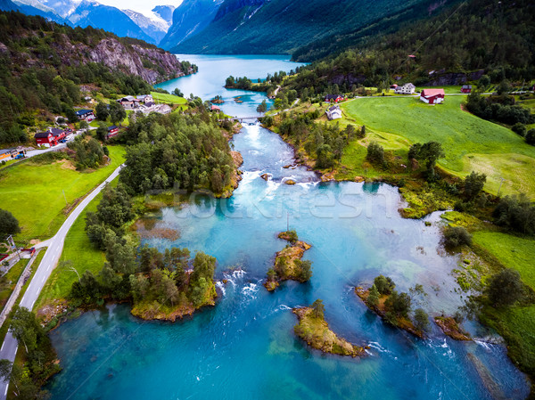 Beautiful Nature Norway aerial photography. Stock photo © cookelma