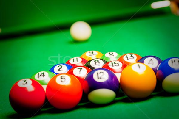 billiard spheres Stock photo © cookelma