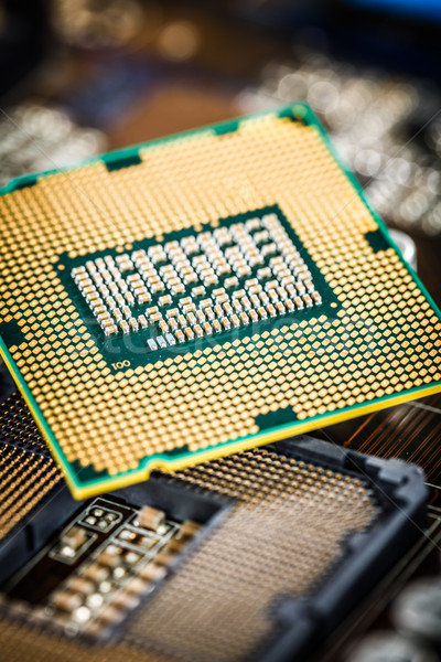 Modern processor and motherboard Stock photo © cookelma