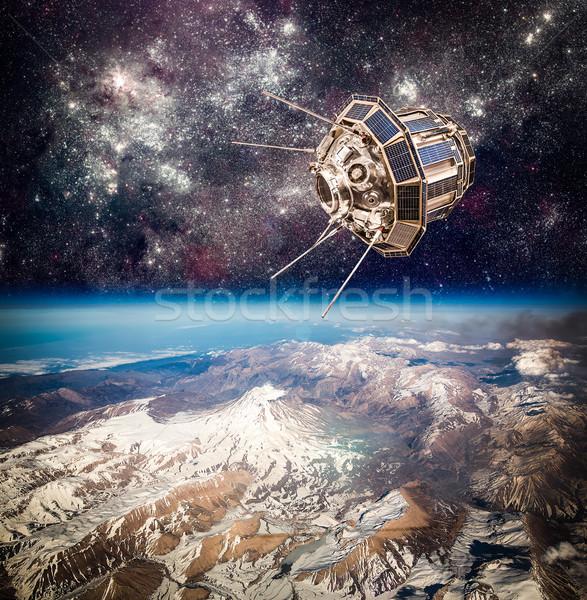 スペース 衛星 地球 地球 要素 画像 ストックフォト © cookelma