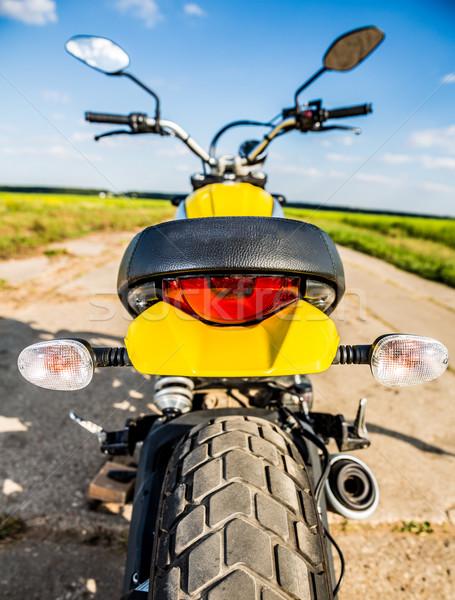 Motorcycle on the road Stock photo © cookelma