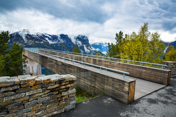 Stegastein Lookout Beautiful Nature Norway. Stock photo © cookelma