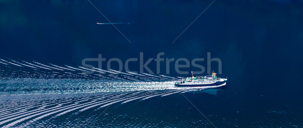 Ferries' cross. Beautiful Nature Norway. Stock photo © cookelma