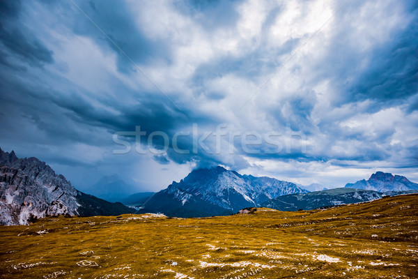 Storm clouds Italy Dolomites Stock photo © cookelma