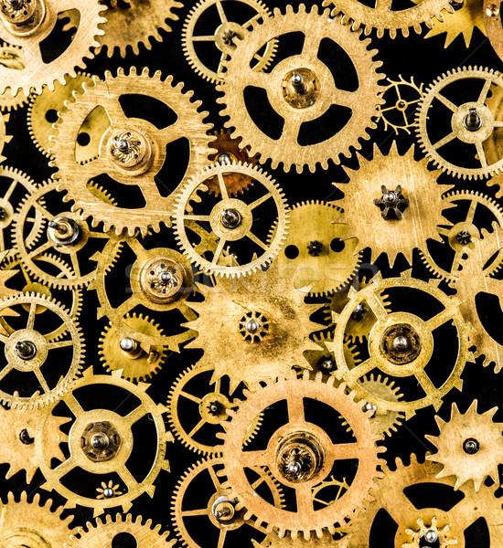 Eski mekanizma siyah teknoloji arka plan Stok fotoğraf © cookelma