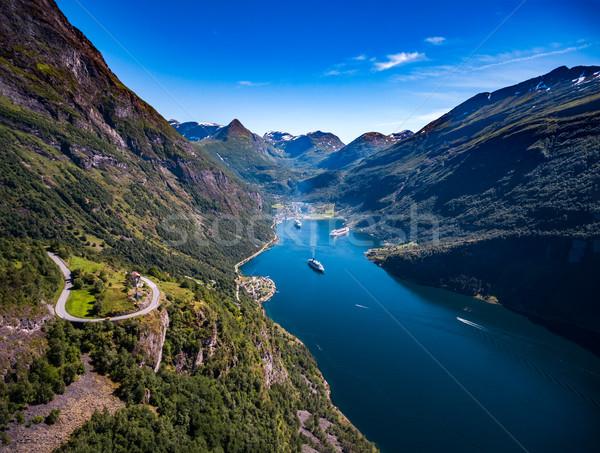 Noruega belo natureza fotografia longo Foto stock © cookelma