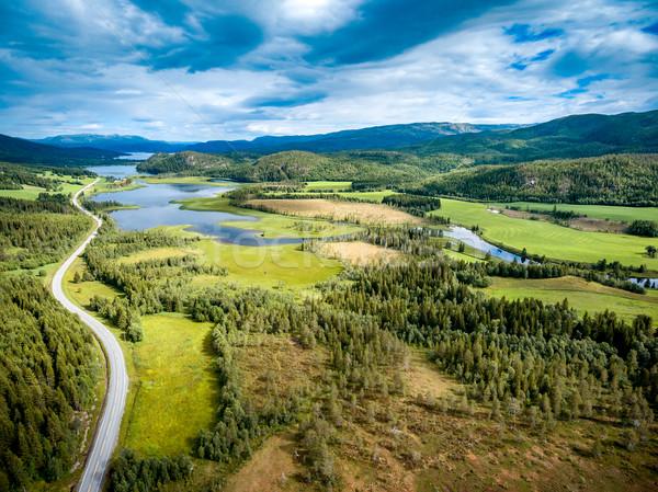 красивой природы Норвегия антенна фотографии природного Сток-фото © cookelma