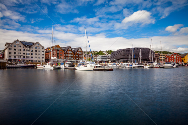 Stock photo: View of a marina in Tromso, North Norway