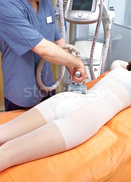 Procedure of treatment of a cellulitis Stock photo © cookelma