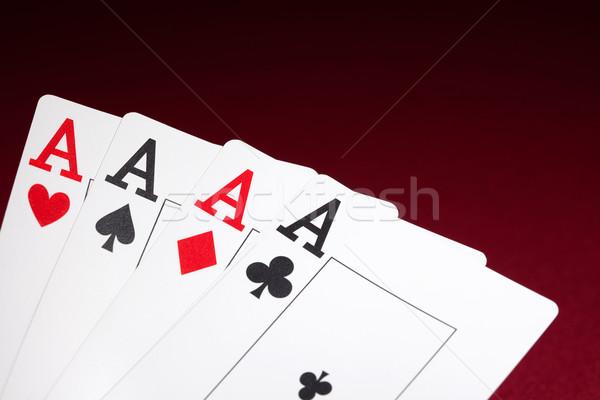 Тузы красный играть играх игорный пару Сток-фото © cookelma