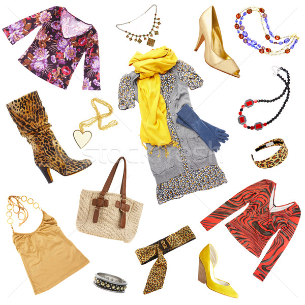 Lady's clothes and accessories Stock photo © cookelma