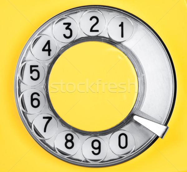 Tárcsa retro telefon öreg szám hangszóró Stock fotó © cookelma