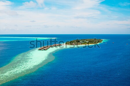 Maldives Indian Ocean - Hotel on the island Stock photo © cookelma