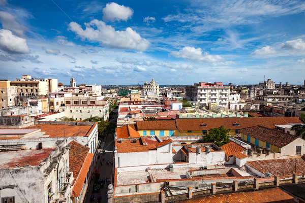 古い ハバナ ショット 市 キューバ 風景 ストックフォト © cookelma