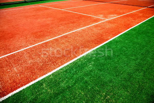 Teniszpálya közelkép egészség háttér nyár űr Stock fotó © cookelma