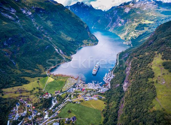 Stock foto: Norwegen · schönen · Natur · Antenne · Fotografie · lange