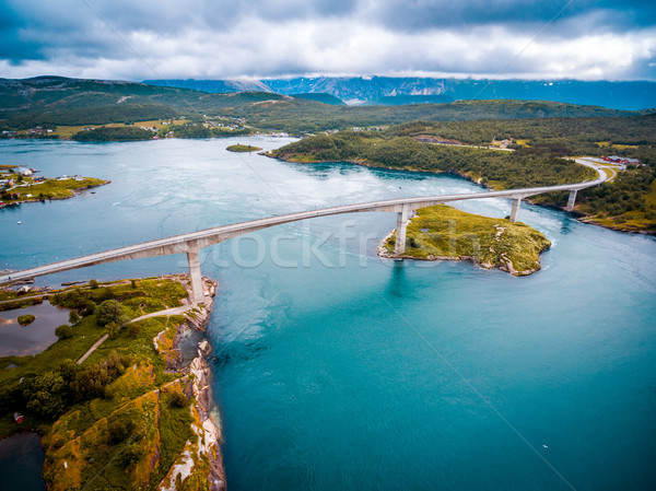 Whirlpools of the maelstrom of Saltstraumen, Nordland, Norway Stock photo © cookelma