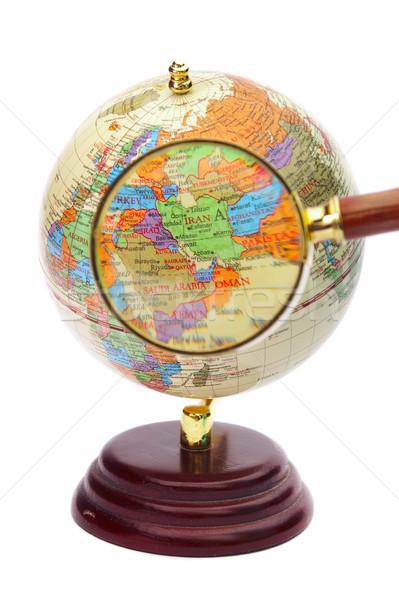 Irã Iraque Afeganistão globo lupa mapa Foto stock © cookelma