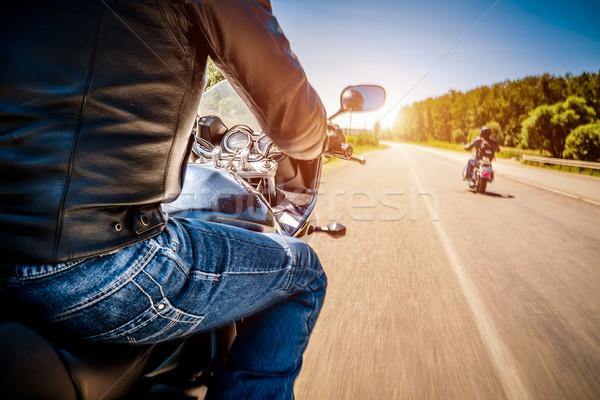 Zdjęcia stock: Widoku · jazdy · motocykla · asfalt · drogowego