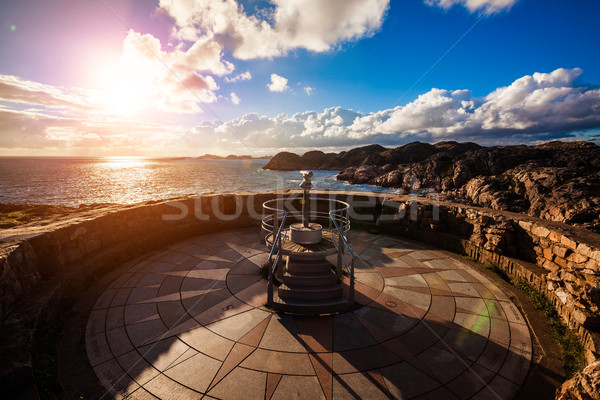 Lookout Lindesnes Fyr Lighthouse, Beautiful Nature Norway Stock photo © cookelma