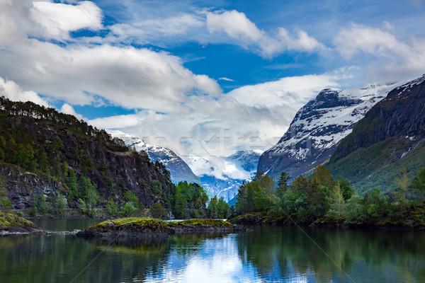 Lago bella natura Norvegia naturale panorama Foto d'archivio © cookelma