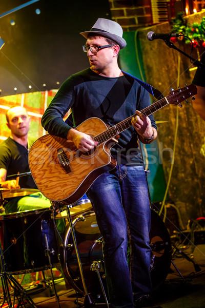 Banda etapa música rock concerto aviso autêntico Foto stock © cookelma