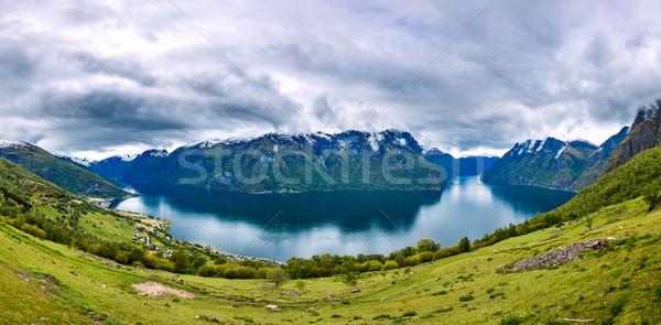 Panorama Hardanger fjorden Stock photo © cookelma